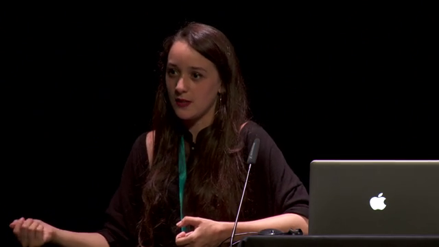 Mathilde Buenerd giving a talk at the Gamification and Serious Games Symposium in 2018